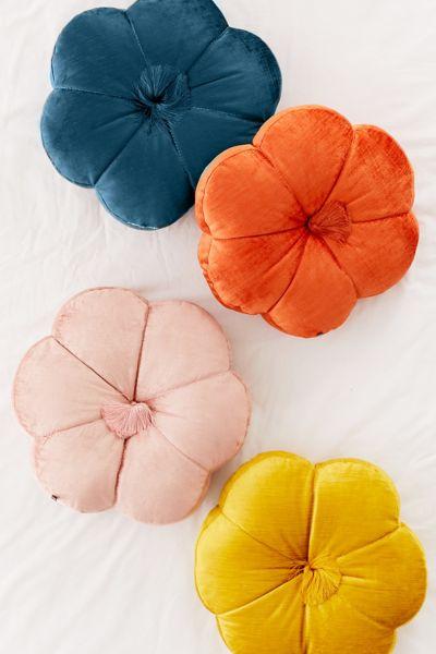 Leela Velvet Flower Throw Pillow Urban Outfitters