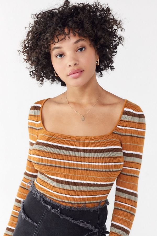 fc8d7bba72c84 Uo Sofie Square Neck Sweater by Urban Outfitters