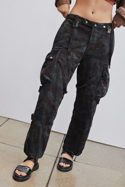 Vintage Overdyed Camo Suspender Pant by Urban Renewal