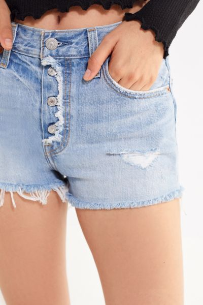 Levi's 501 Mid Rise Denim Short – Button Fly by Levi's