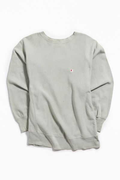Vintage Champion Grey Crew Neck Sweatshirt by Urban Outfitters Vintage