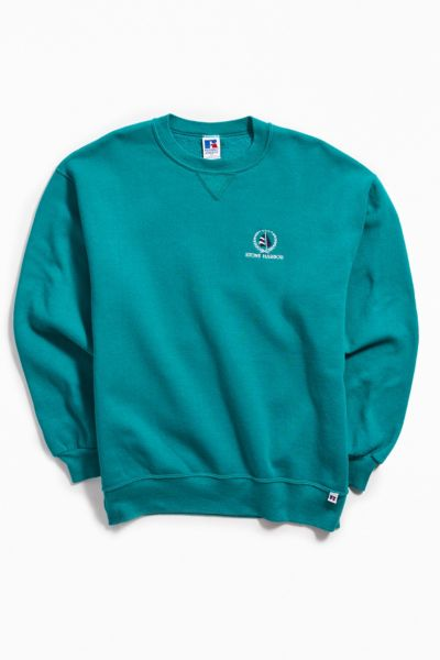 Vintage Russell Green Crew Neck Sweatshirt by Urban Outfitters Vintage