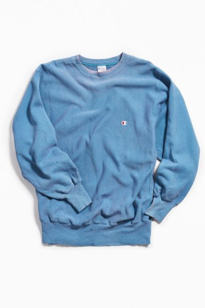 Vintage Champion Sky Blue Crew Neck Sweatshirt by Urban Outfitters Vintage