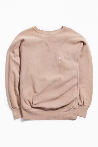 Vintage Champion Taupe Crew Neck Sweatshirt by Urban Outfitters Vintage