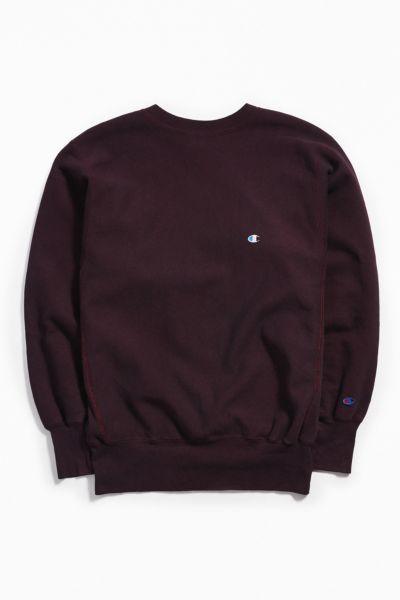 Vintage Champion Burgundy Crew Neck Sweatshirt by Urban Outfitters Vintage