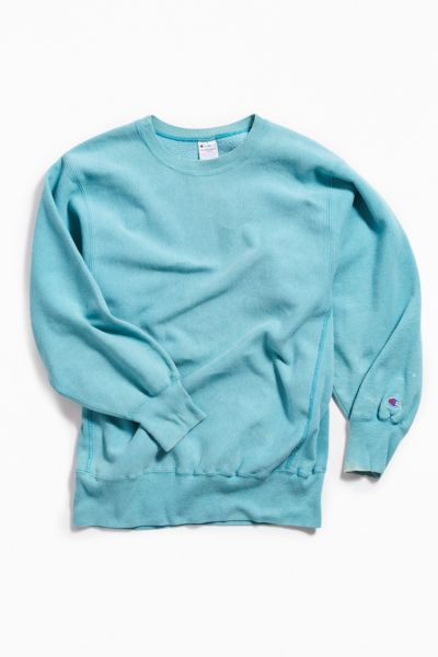 Vintage Turquoise Crew Neck Sweatshirt by Urban Outfitters Vintage
