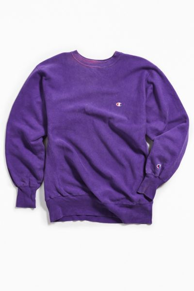 Vintage Champion Purple Crew Neck Sweatshirt by Urban Outfitters Vintage