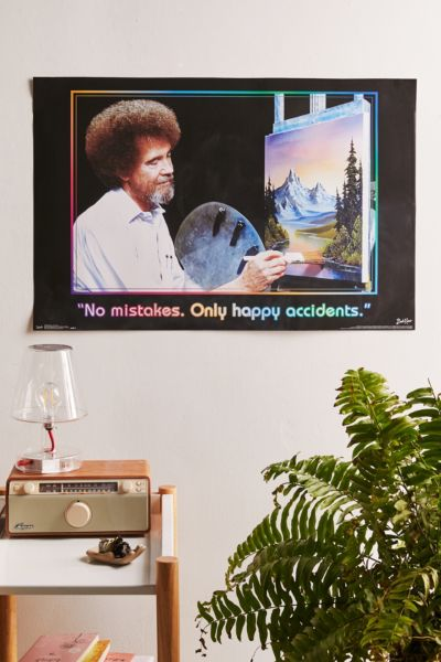 Bob Ross Happy Accidents Poster by Urban Outfitters