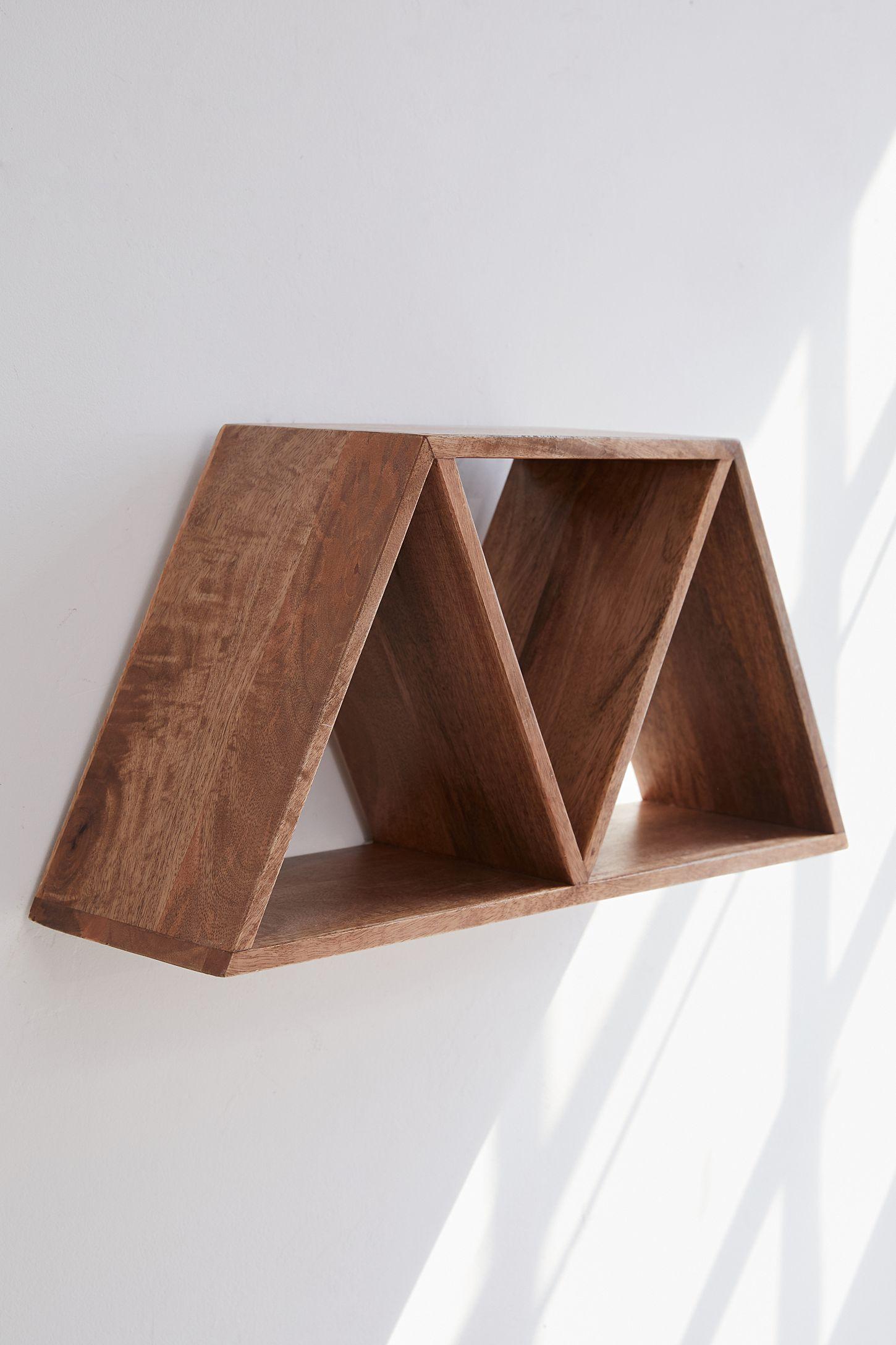 Slide view 5 leila triangle wood wall shelf