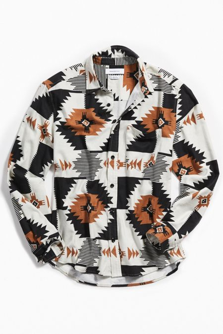 World Map Button Down Shirt.Men S Tops T Shirts Hoodies More Urban Outfitters
