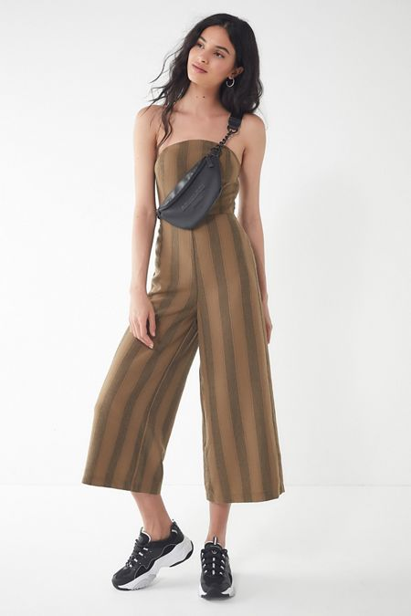 68c75c444350 UO Striped Strapless Jumpsuit