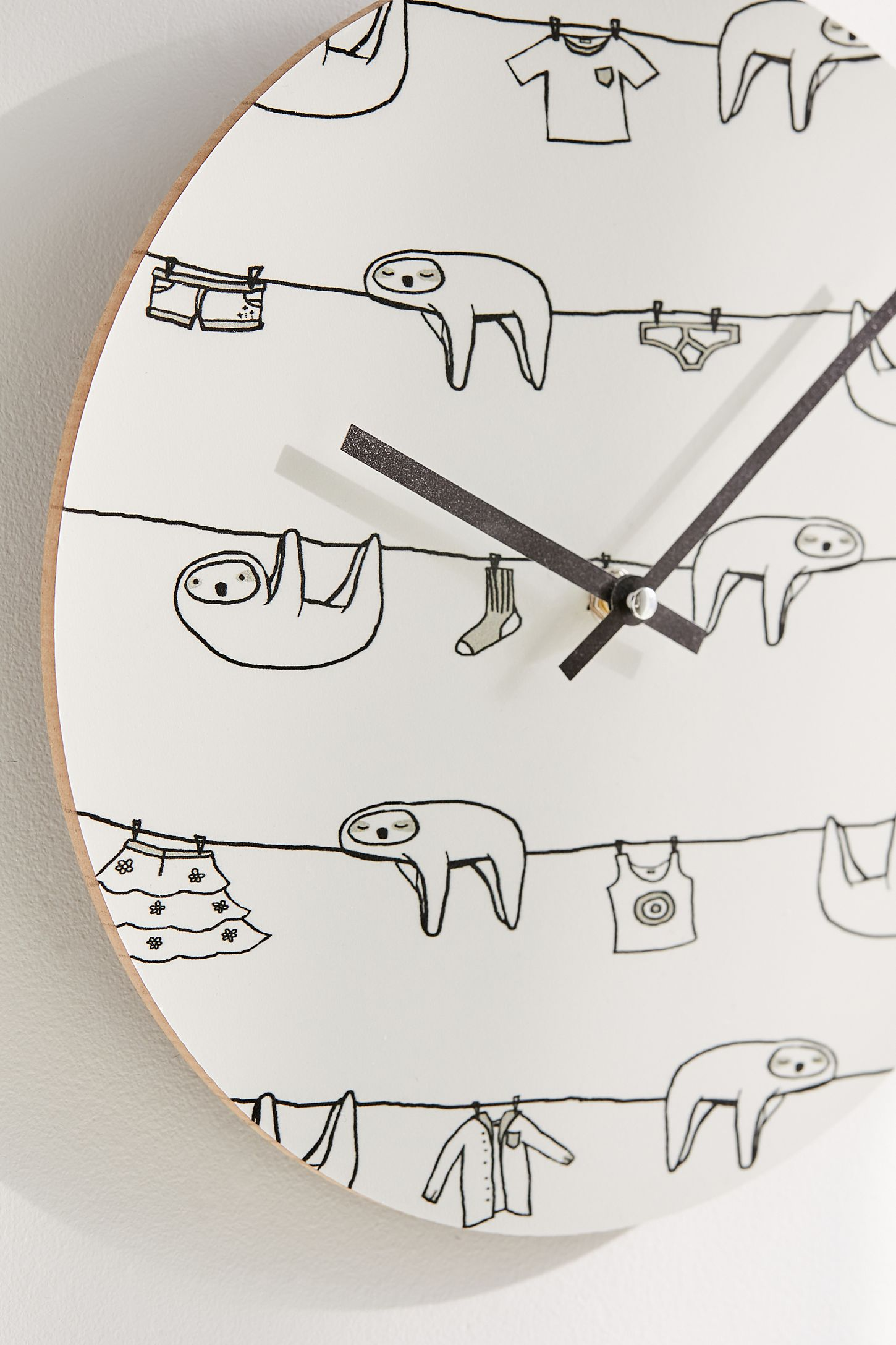Sloths of love for deny sloth laundry time 12 wall clock urban slide view 2 sloths of love for deny sloth laundry time 12 wall ccuart Choice Image