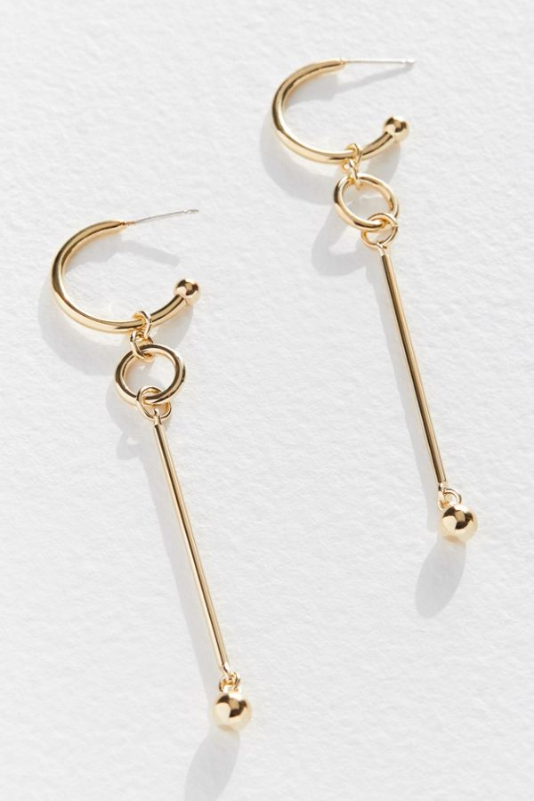 Slide View 1 Lady Grey Uo Exclusive Hoop Drop Earring