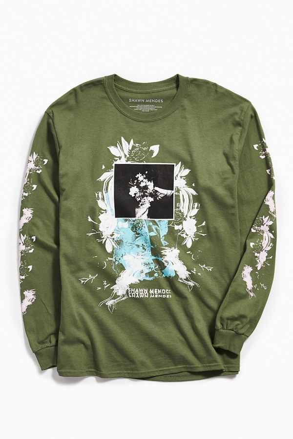 Shawn Mendes Floral Long Sleeve Tee  a7e3f909f61