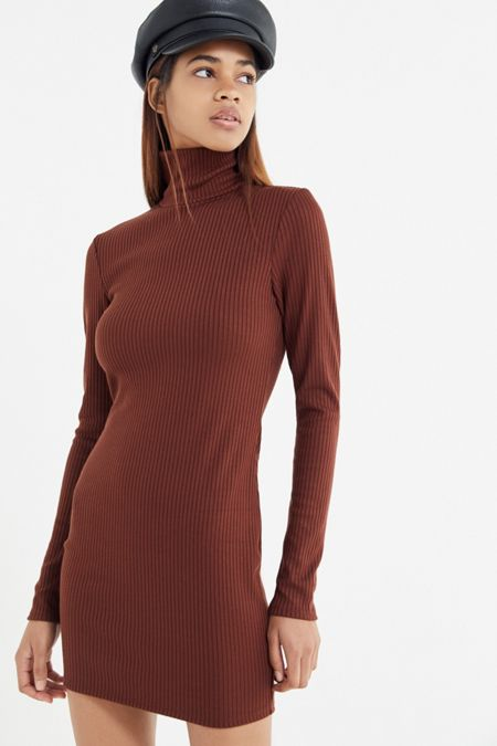 Dresses rompers urban outfitters uo gigi turtleneck mini dress mightylinksfo