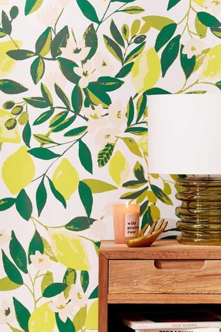 Lemons removable wallpaper