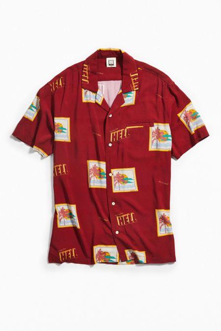 79975355eb Insight Postcards Short Sleeve Button-Down Shirt