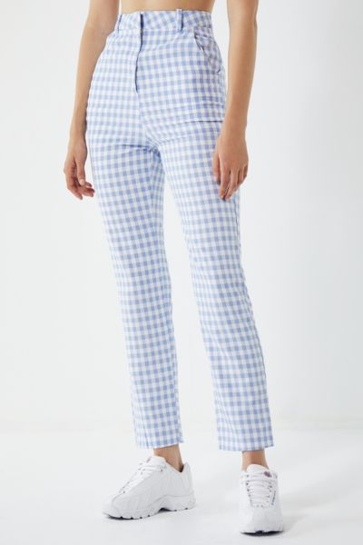 Lioness High Rise Gingham Trousers by Lioness