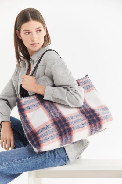 Wool Plaid Everyday Tote Bag