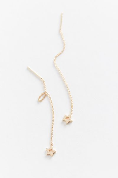 Delicate Star Threader Earring by Urban Outfitters