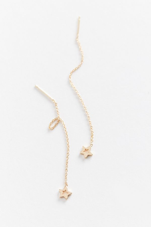 delicate star threader earring urban outfitters