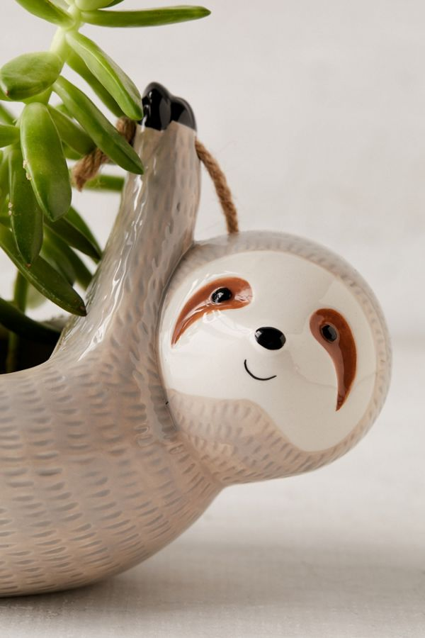 sloth hanging planter urban outfitters