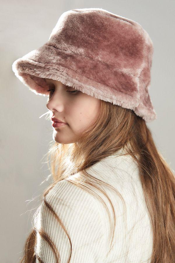 Brixton Hardy Furry Bucket Hat  35870ef50cd