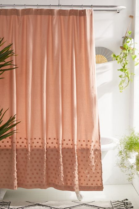 Tufted Dot Shower Curtain