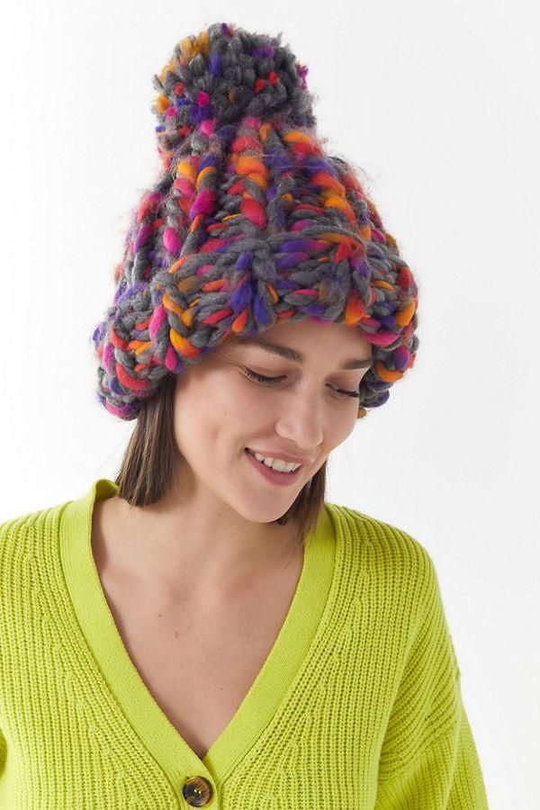 Slide View  1  Chunky Craft Knit Beanie ae5542eaa8d