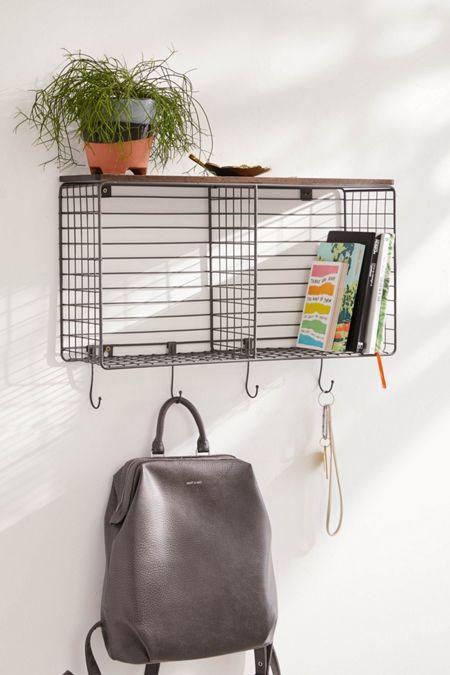 Metal Hook Wall Shelf