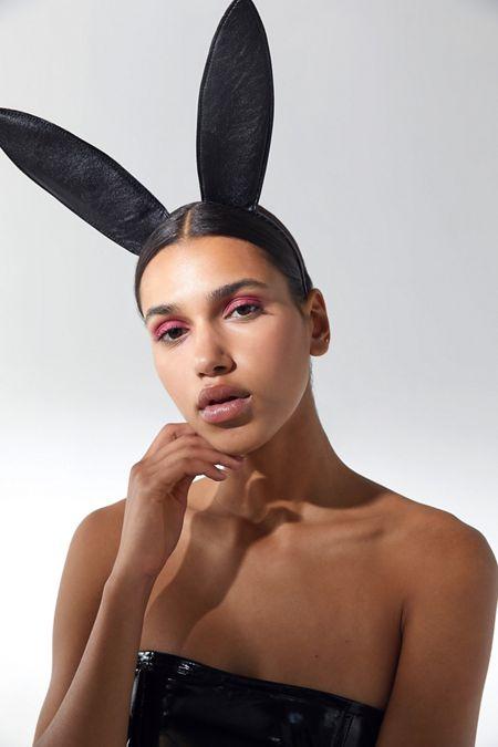 leather bunny ears headband