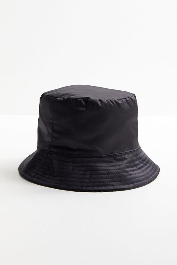 Slide View  2  Nylon + Sherpa Reversible Bucket Hat fcee420efa9