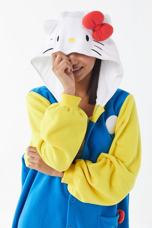 slide view 1 kigurumi 70s hello kitty halloween costume