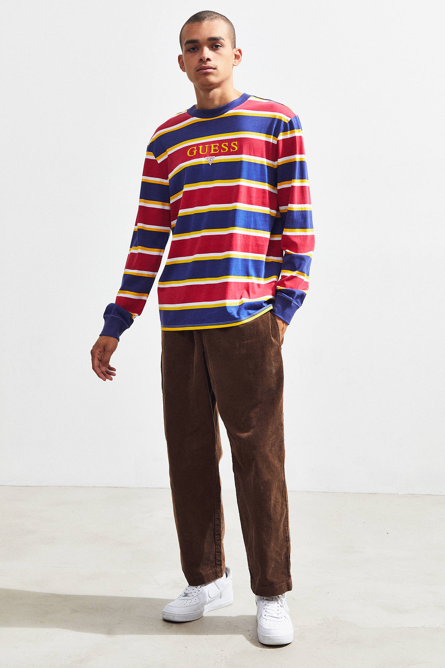 Guess Kenmore Striped Long Sleeve Tee Urban Outfitters