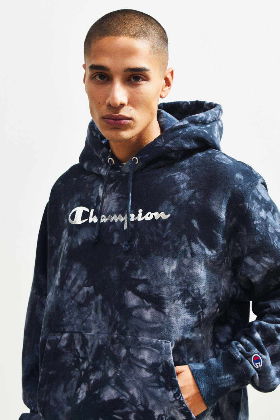 Slide View: 1: Champion Tie-Dye Hoodie Sweatshirt