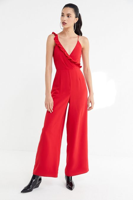 0d128eaf58a Keepsake Forget You Ruffle Surplice Jumpsuit