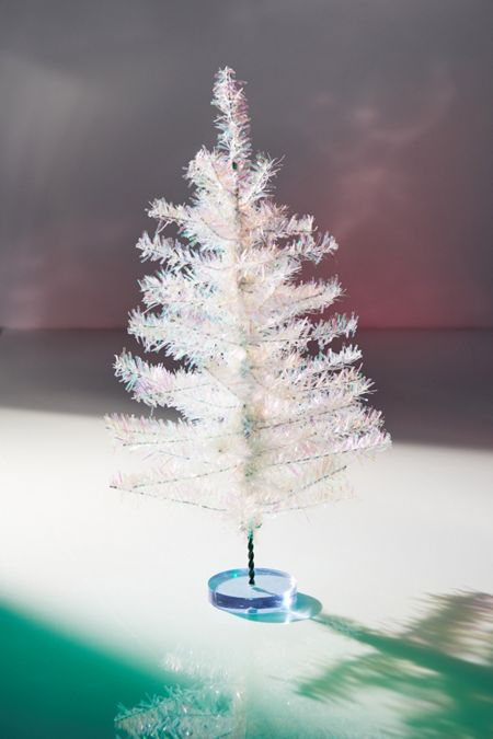 tinsel mini christmas tree - Christmas Holiday Decorations