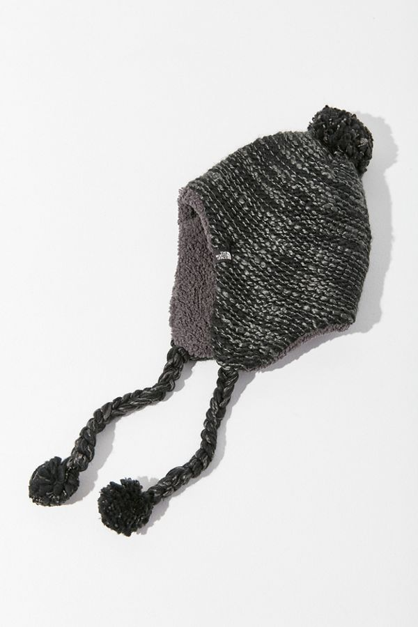 ... Black  Slide View 1 The North Face Fuzzy Earflap Beanie ... a77b9db85879