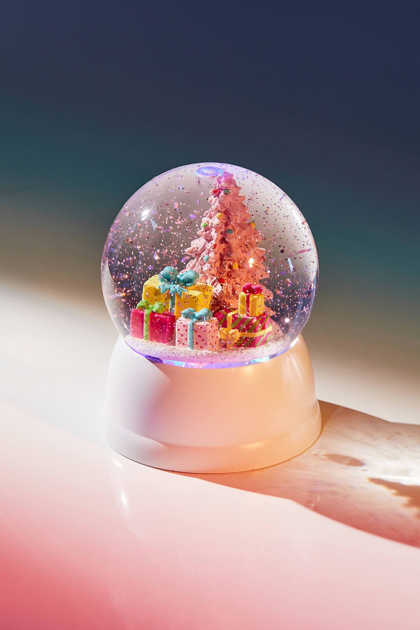 Pink Christmas Tree Usb Snow Globe Urban Outfitters