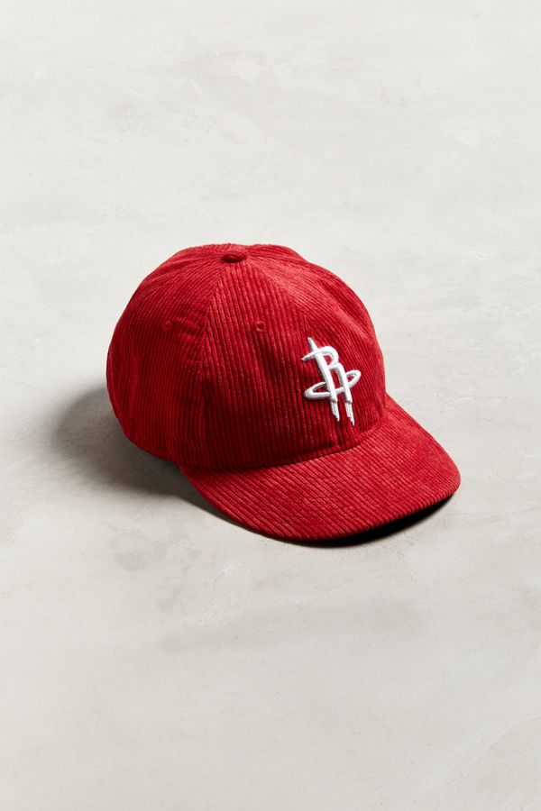 Slide View  1  New Era Houston Rockets Retro Corduroy Snapback Hat 24658f4b871