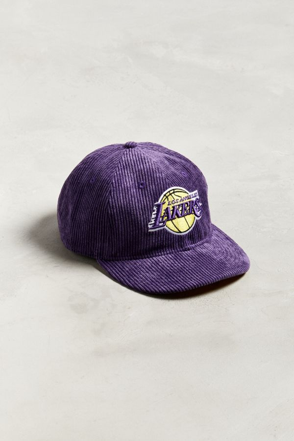 Slide View  1  New Era Los Angeles Lakers Retro Corduroy Snapback Hat 3656ca65060
