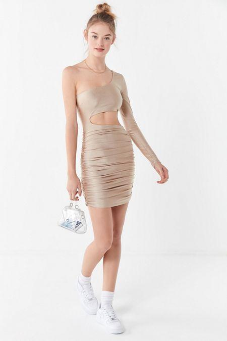 1ee0ce94882 Tiger Mist Sammi Ruched One-Shoulder Mini Dress. Quick Shop