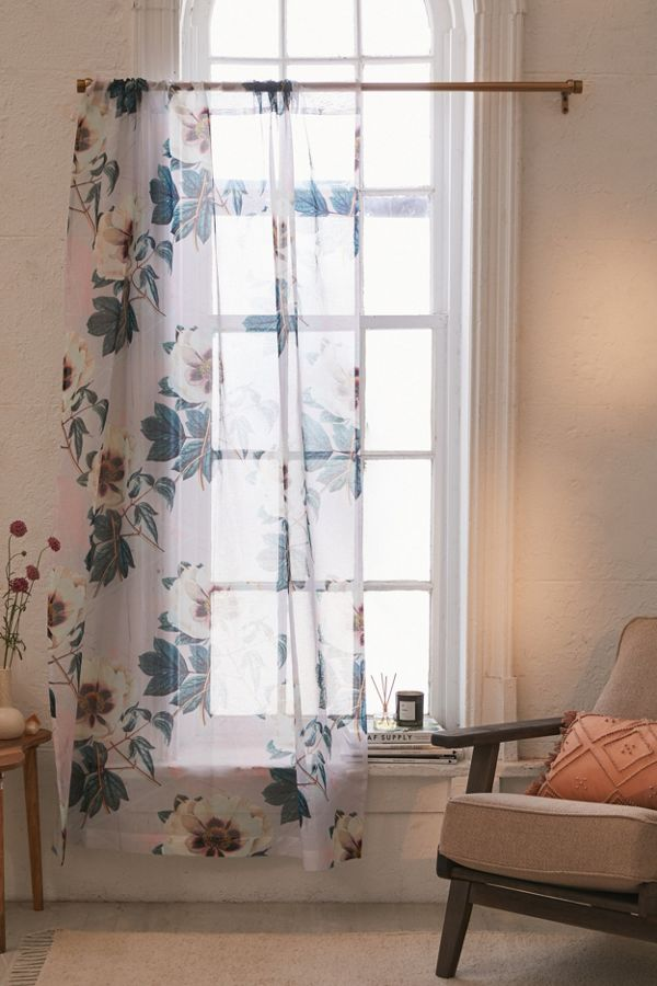 Slide View: 1: Marta B. Camarasa For Deny Sheer Flowerly Blooming Window Panel