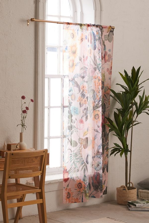 Slide View: 1: Burcu Korkmazyurek For Deny Exotic Garden Sheer Window Panel