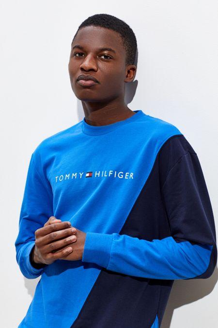 Tommy Hilfiger Slant Colorblock Crew-Neck Sweatshirt d1c8b18b85