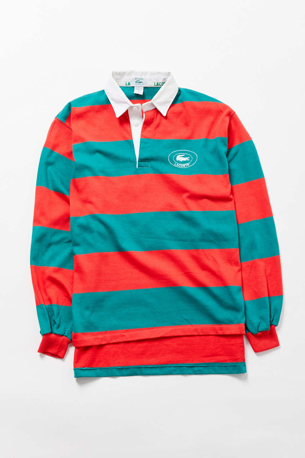 Vintage Lacoste Striped Long Sleeve Rugby Shirt