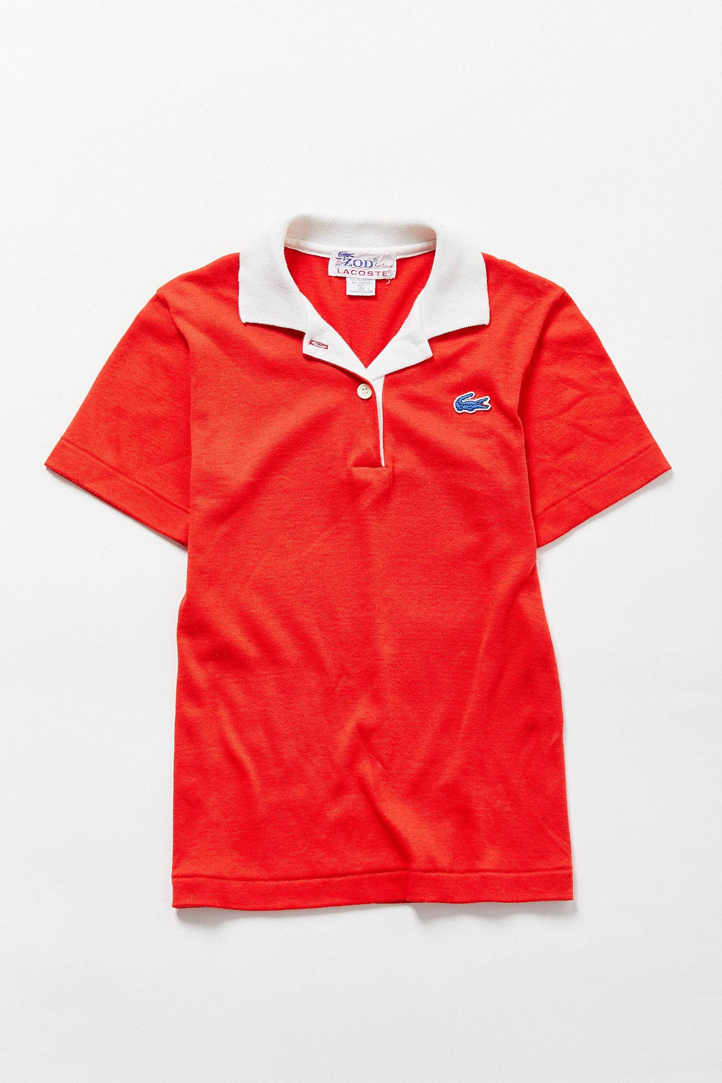 Vintage Lacoste Red Polo Shirt Urban Outfitters