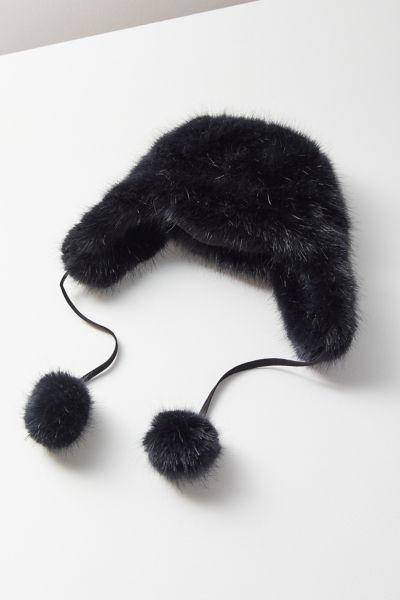 Snowball Faux Fur Trapper Hat