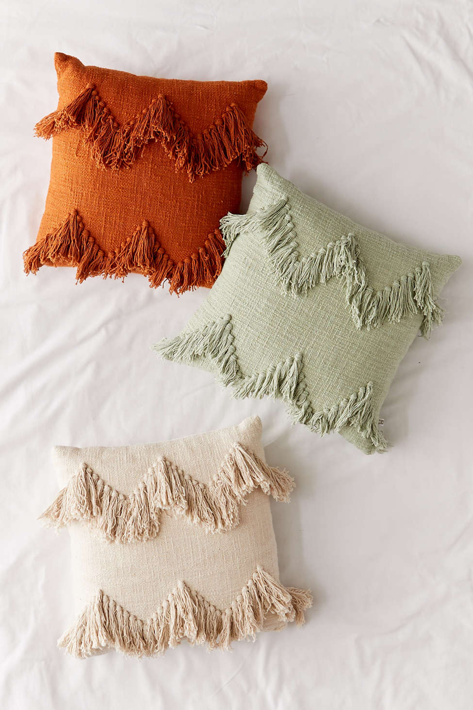 Slide View: 1: Sadie Fringe Throw Pillow