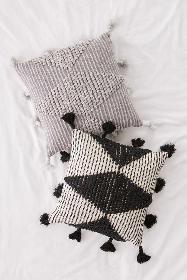 Slide View: 1: Aspen Geo Textured Throw Pillow